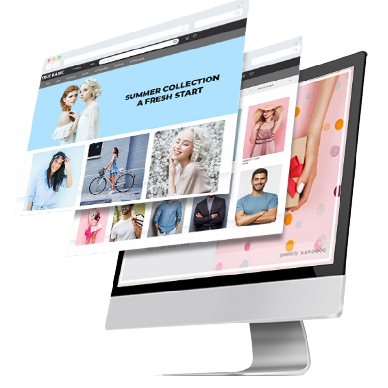 Website Design image on the screen
