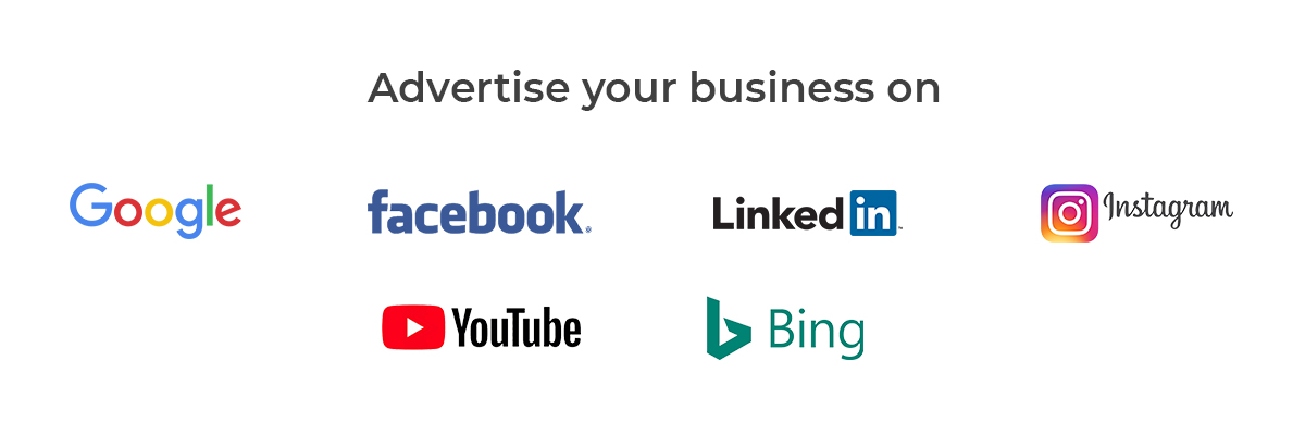 image with logos of all google and social media platform
