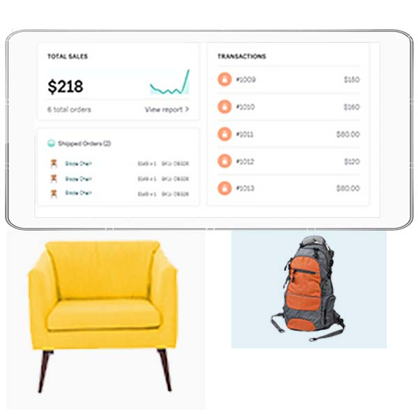 ecommerce products with price and transaction statistics