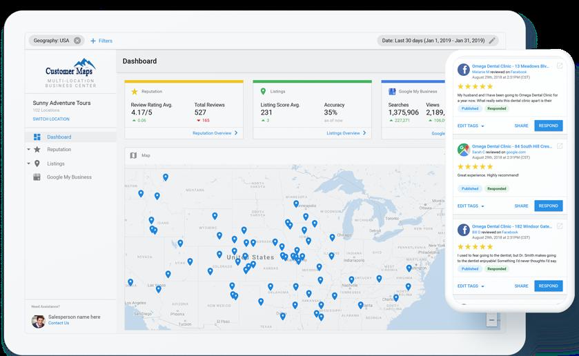 Business App dashboard