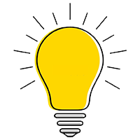 yellow bulb with light
